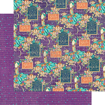 Midnight Masquerade collection Romantic rendezvous Graphic45  2 sheets