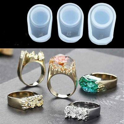 3 Size DIY Silicone Mold Ring Epoxy Casting Resin Jewelry Making Craft Mold Tool