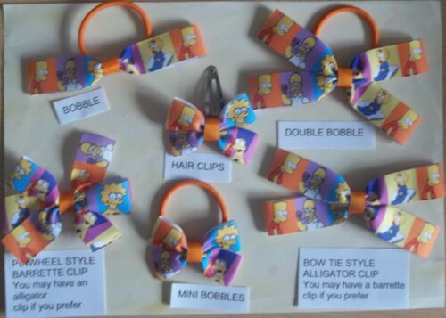 HANDMADE  HAIR BOWS THESE ARE NOT GENUINE LICENSED ITEMS U ADULT TV