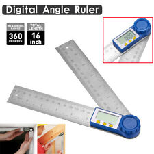 8 Electronic Digital Angle Finder Lcd Ruler Protractor Stainless Measure Tool