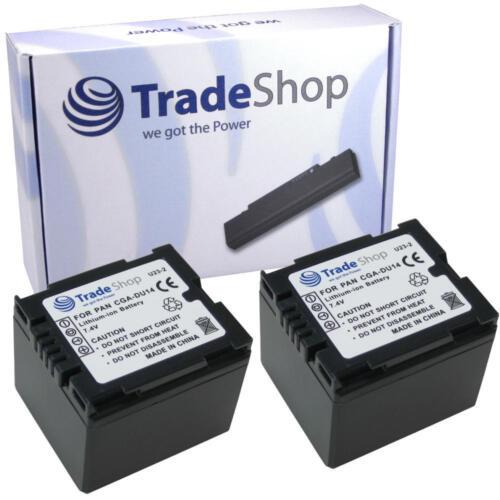 2x batería F Panasonic cgr-du06 cga-du14 vbd070 vw-vbd140