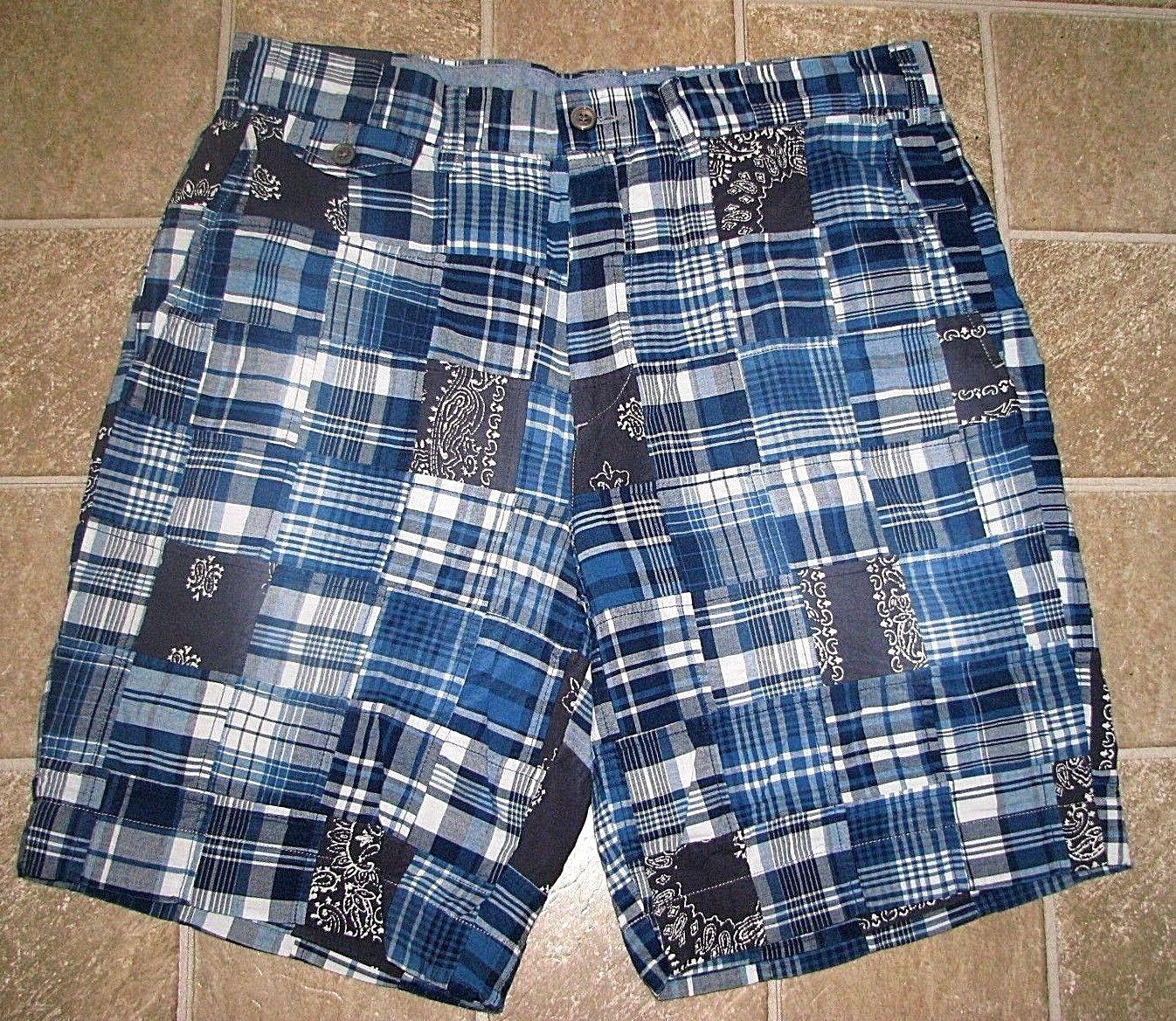 Herren (38) Polo-Ralph Lauren Patchwork Kariert Kariert Kariert Halstuch Blau Madras Shorts  | Deutschland Outlet  c22968
