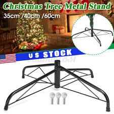 Christmas Tree Stand Metal Holder Base Green Cast Iron Stand 40cm 7ft New US