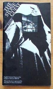 The Stone Guest programme English National Opera ENO 1987 Graham Clark