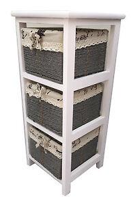 à Condition De Maïs Paniers Unit 3 Tiroirs En Bois Blanc Slim Cabinet De Rangement Table-afficher Le Titre D'origine ArôMe Parfumé