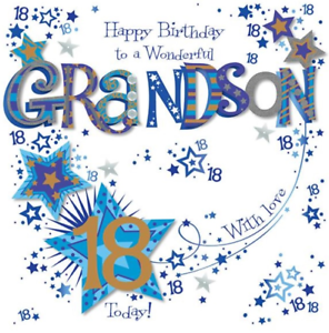 Image Is Loading 8 034 X8 Large Grandson 18th Birthday