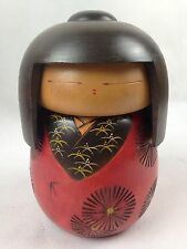 Vintage Japanese Large Wooden Kokeshi Doll - Moveable Head