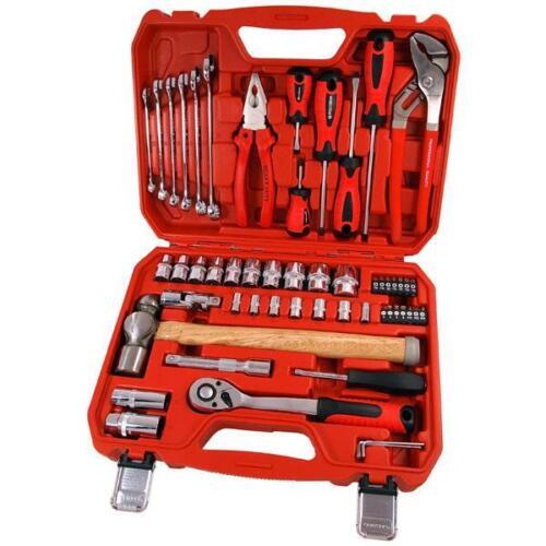 55 pces Outils Set-marteau pince tournevis clés douilles cliquet Hex Keys