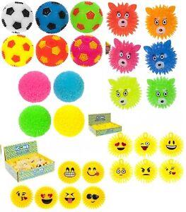 Kids Balle Clignotant Emoji pointus Bouncy Ball Gilet Sensorielle Stocking Filler Jouet  </span>