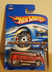 Hot-Wheels-2006-Mystery-Car-Series-Customized-VW-Drag-Bus-w-Real-Rider-Tires