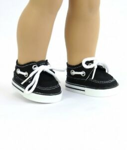 "Doll Clothes fits 18/"" American Girl Navy Blue Canvas Sneakers Shoes Boy Logan"