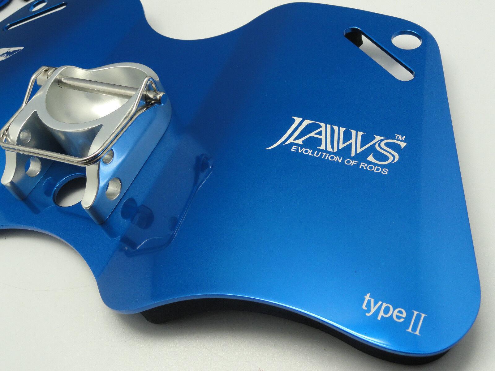 Mordazas de tipo II de aleación Dual Play cardán Pad Placa De Big Game Jigging Pesca Azul