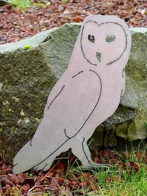 Cut Metal Rusty Barn Owl Garden Home Yard Lawn Window Outdoor Tree Art Decor