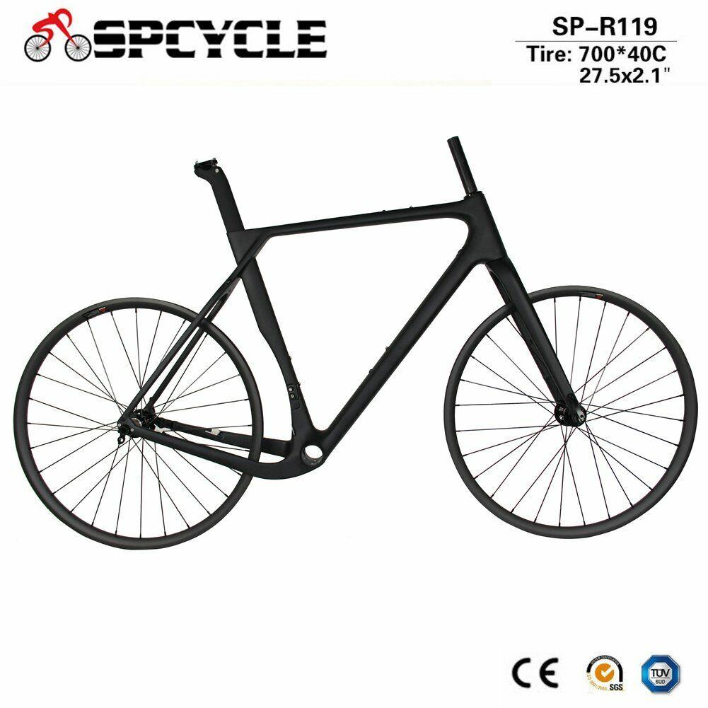 Full Carbon Gravel Bike Frame Road Cyclocross Frameset And 27.5er MTB Wheelsets