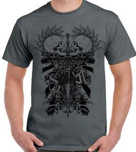 sauvage-Deux-Punk-Cranes-Hommes-T-shirt-Biker-Velo-Moto-MOTO-tatouage