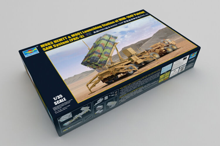 01037 Trumpeter 1 35 M983 HEMTT &MIM-104F Patriot SAM System PAC-3 Car Model