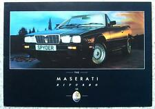 MASERATI BITURBO SE 425/COUPE/SPYDER Car Sales Brochure c1985