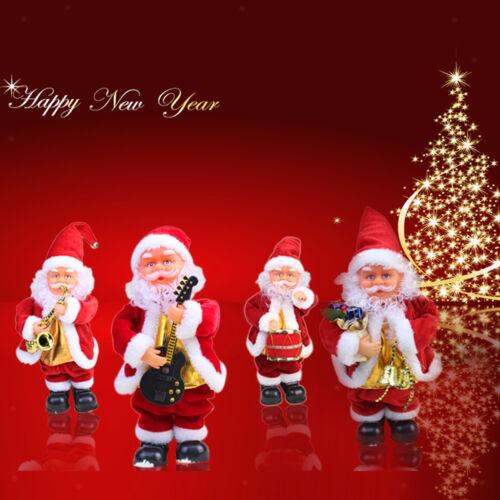 27cm Tall Vintage Animated Musical Dancing Christmas Santa Claus Xmas Decor