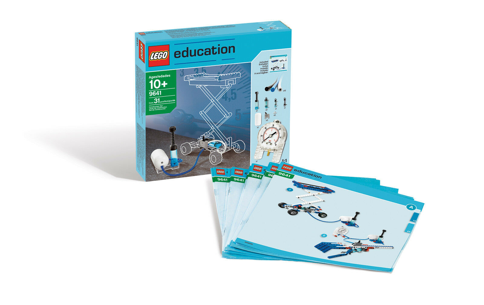 Lego 9641 Education Pneumatique Additionnel à 9686 Neuf Pression D'Air École