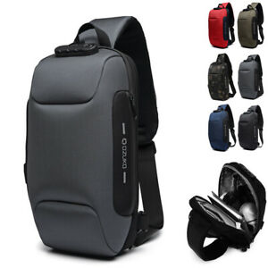 Comb-Lock-Charging-Port-Water-Resistant-Chest-Pack-Sling-Bag-One-Strap-Backpack