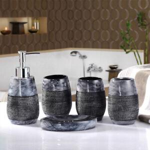 NEW 5pcs Luxury Noble Slap-up Bathroom accessories set ...