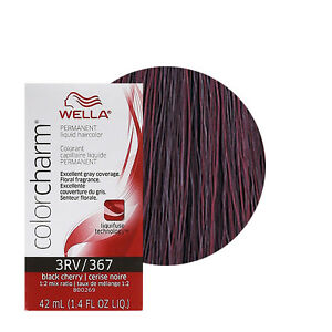 Wella Color Charm Permament Liquid Hair Color 42ml Black Cherry 367