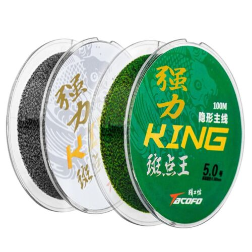 Details about  /Fishing Line 100m Nylon Invisible 4-32 LB Speckle Carp Fluorocarbon Spotted Wire