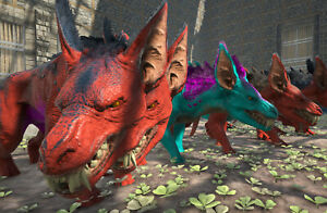Ark-Survival-Evolved-Xbox-One-Official-PVE-Color-Mutated-Ravager-w-Saddle