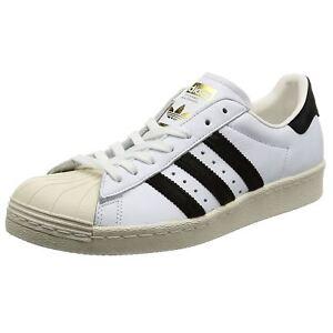 cuir noir pour en avec Adidas hommes cuir Baskets noyau Footwear Superstar noir 80s en xCg6TqUzw