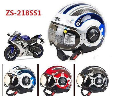 Helmet Open Face Visors Motorcycle DOT ECE ZEUS Demi Jet MOMO Style ZS-218SS2