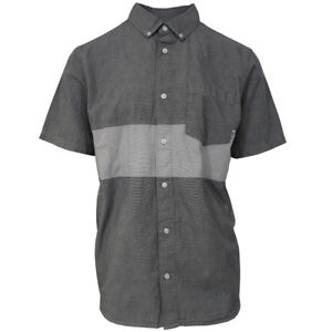 Vans-Off-The-Wall-Men-039-s-Heather-Grey-Tone-S-S-Woven-Shirt-Retail-44