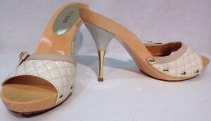 Guess-Womens-Heels-Size-9M-Wgyates2-Cream-Beige-Gold