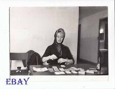 Brigitte Bardot plays cards VINTAGE Photo