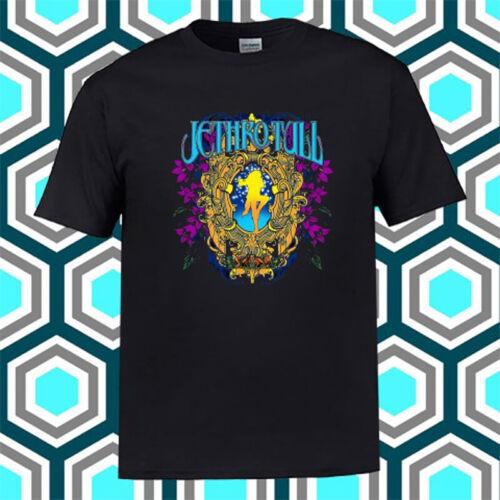 Jethro Tull Music Legend Album Logo Black T-Shirt Size S M L XL 2XL 3XL