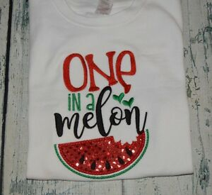 777b15243 One In A Melon Girls Girl 1st Birthday Shirt Red Watermelon Girls ...