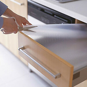 Clear Drawer Liner Rubber Kitchen Cupboard Mat Cabinet