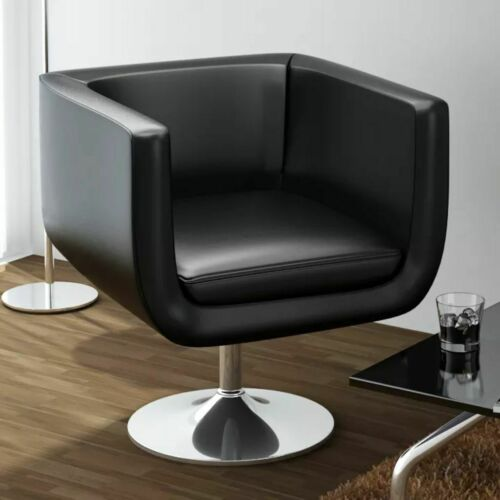vidaXL LOUNGE Sessel Clubsessel Barhocker Drehstuhl Cocktailsessel schwarz
