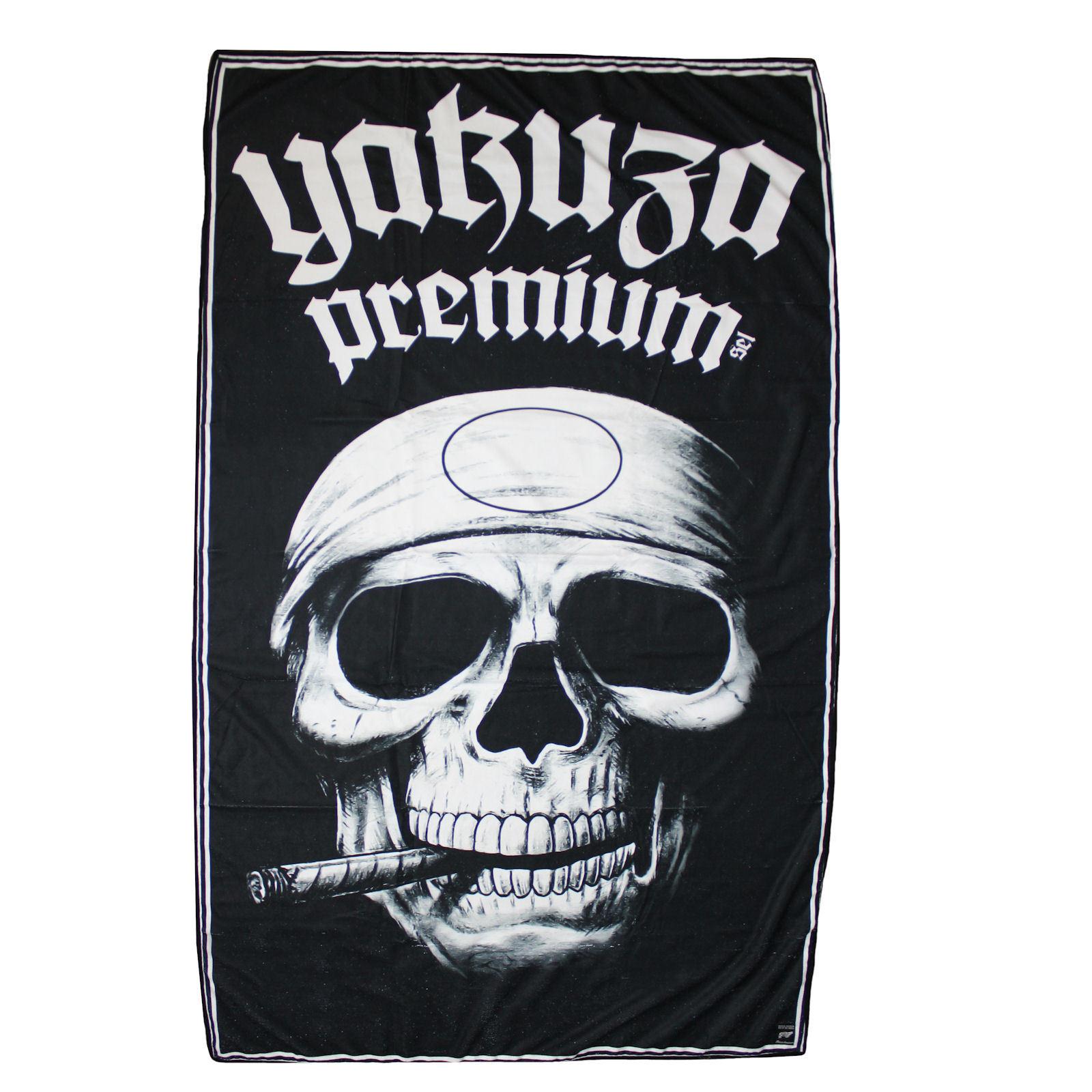 Yakuza Premium Liegetuch PROMO SKULL schwarz Strandtuch Tuch     | Verschiedene