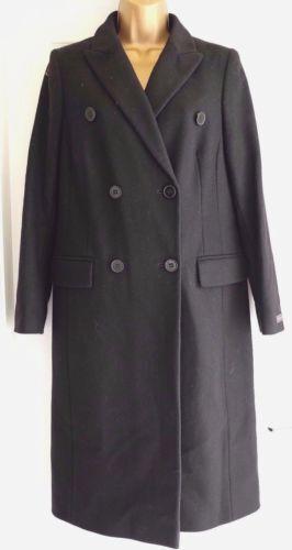 M/&s collection Boutonnage Double Italien Tissu Avec Cashmere Coat