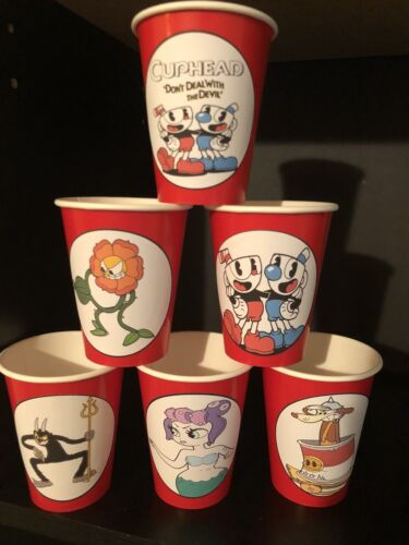 Cups /& Plates RED Cuphead Birthday Party Pack Bundle For 16