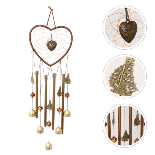 1Pc Iron Art Wind-bell Tube Door Wind Chimes Household Hanging Pendant for Patio