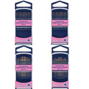 Hemline Premium Embroidery Crewel Hand Sewing Needles In Various Sizes