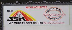 VINTAGE-3SH-RADIO-MID-MURRAY-SOFT-DRINKS-DEEP-SPRING-ADVERTISING-PROMO-STICKER