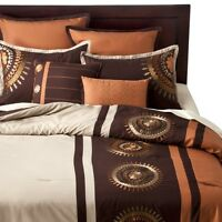 Orange Medallion Bedding Set - 8-pc