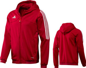 adidas-Maenner-Hoody-rot-Herren-Kapuzenpulli-Zip-Jacke-Gr-XS-S-M-XL-XXL