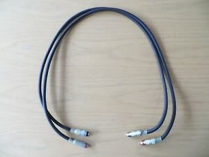 Vintage-AUDIOQUEST-Topaz-Interconnect-1m-Phono-Hi-Fi-RCA