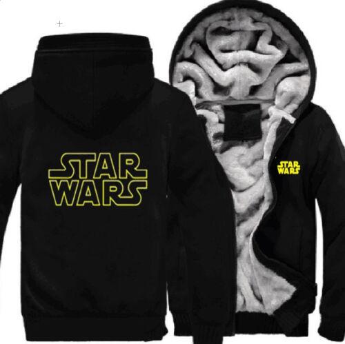 Men Star Wars Darth Vader Hoodies Coat Winter Fleece Thick Winter Jacket Sweater