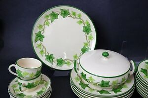 1-Only-Vintage-Franciscan-Earthenware-Green-Ivy-Chop-Serving-Plate-11-3-4-034