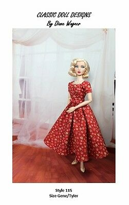 "SEWING PATTERN-Style 115 TV Inspired Dress Gene Tyler 16"" Poppy Parker"