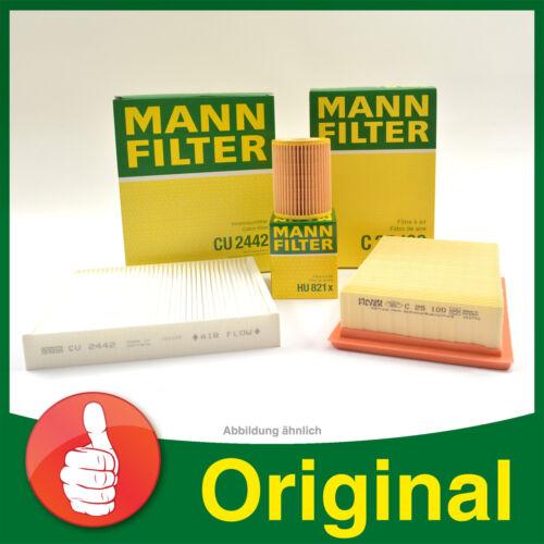 MANN FILTER SET Filterpaket Luft Pollen Opel Corsa D 1.3 CDTi Ölfilter